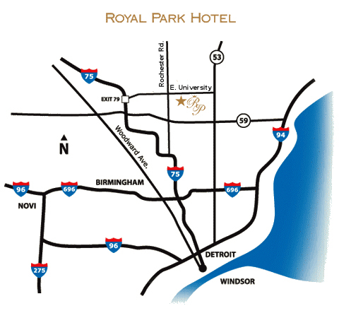 Royal Park Hotel - Hotels/Accommodations - 600 E University Dr, Rochester, MI, 48307, US