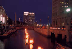 WaterFire--Downtown Providence - Attraction - Exchange Street, Providence, Rhode Island, United States