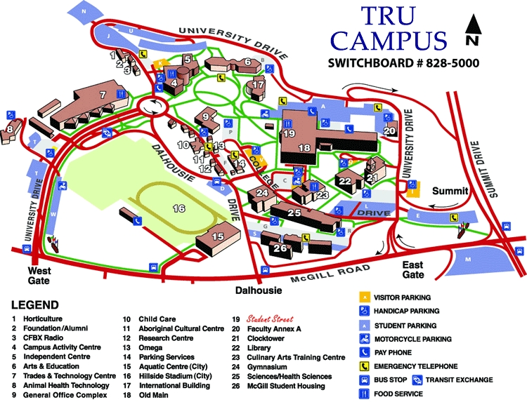 Thompson Rivers University Terrace Room - Ceremony Sites, Reception Sites - 900 McGill Road, Kamloops, BC, V2C 5N3