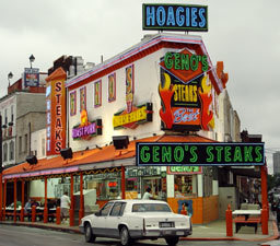 Geno's Steaks - Restaurants, Attractions/Entertainment, Coffee/Quick Bites - 1219 S 9th St, Philadelphia, PA, 19147, US
