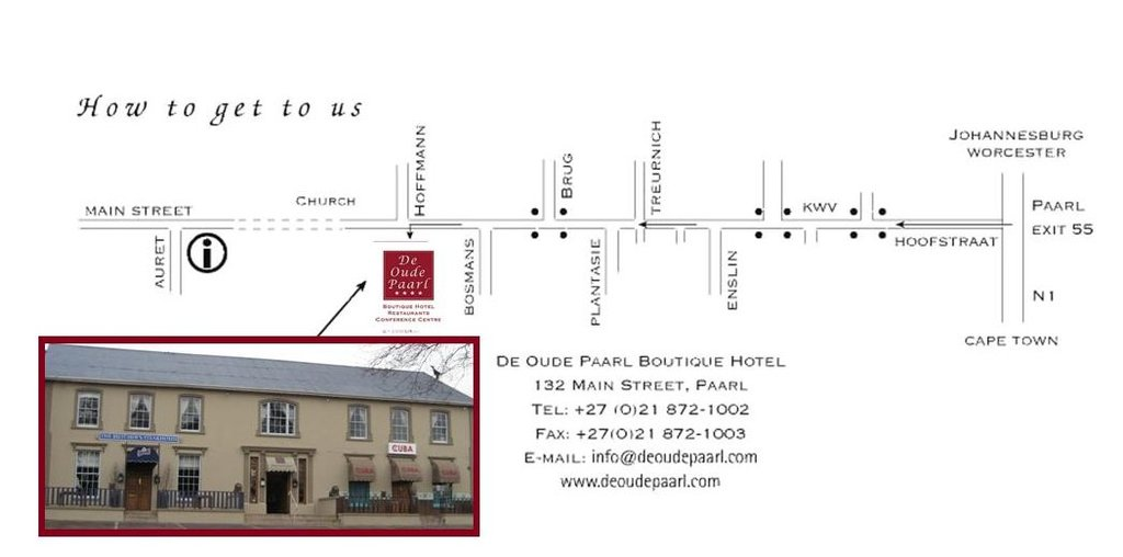 De Oude Paarl Hotel - Hotels/Accommodations - 132 Main Street, Paarl, Western Cape, South Africa