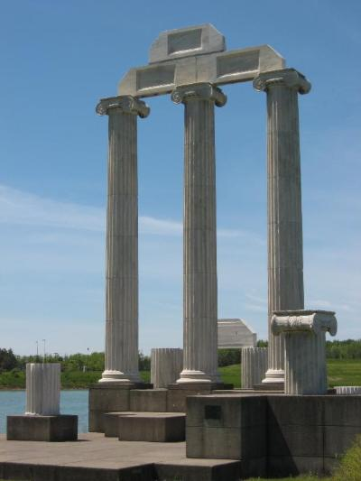 Baird Point Columns At The University At Buffalo - Photo Sites -