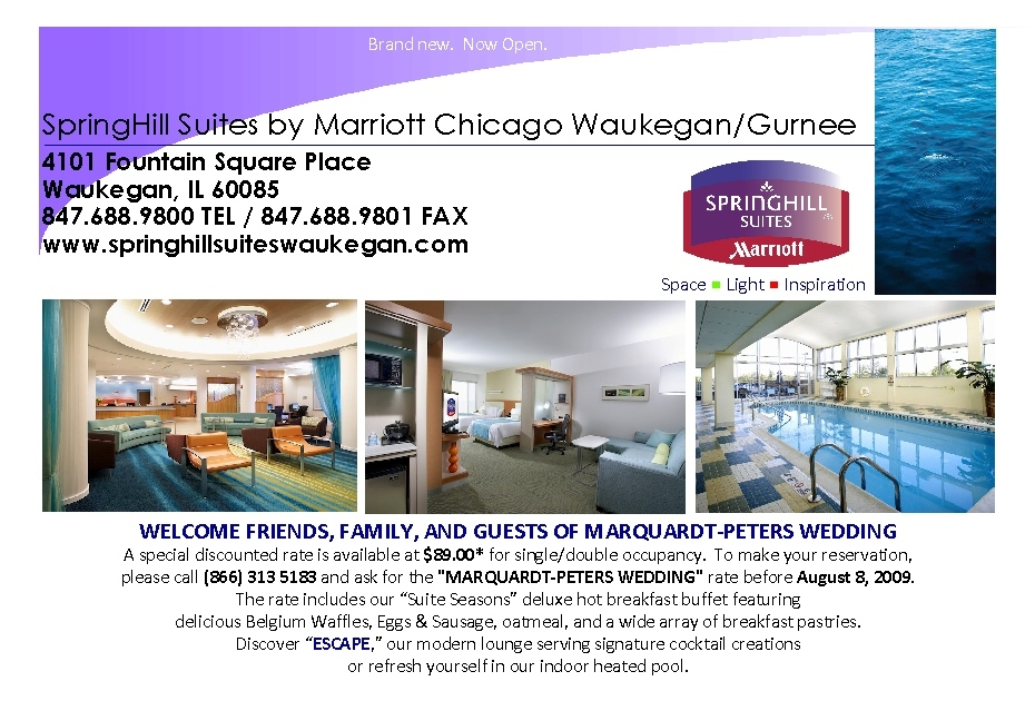 Springhill Suites By Marriott - Hotels/Accommodations - Fountain Square Pl, Waukegan, IL, 60085