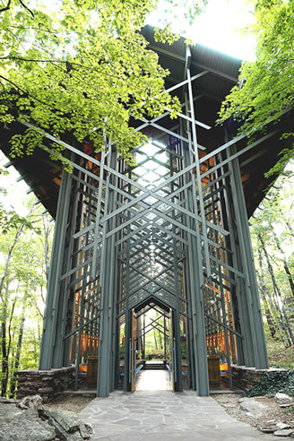 Thorncrown Chapel - Ceremony Sites, Ceremony &amp; Reception - 12968 Hwy 62, Eureka Springs, AR, 72632, US