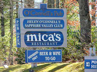 Helen O'connell's Pub & Mica's Restaurant - Bars/Nightife - Sapphire, NC, 28774-9613