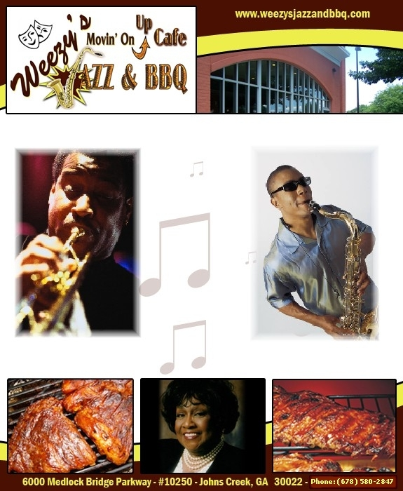Weezy's Movin' On Up Café Jazz & Bbq - Attractions/Entertainment - 10270 Medlock Bridge Rd, Johns Creek, GA, 30097, United States