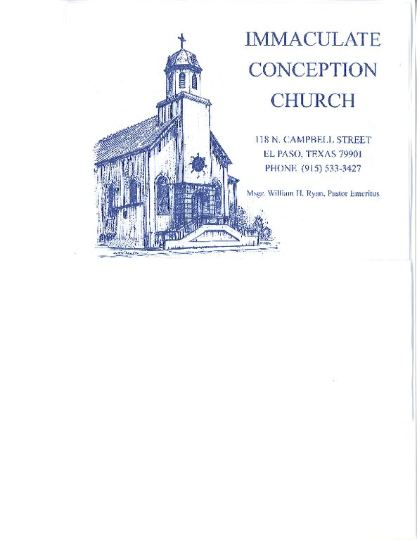 Immaculate Conception Catholic Church - Ceremony Sites - 118 N Campbell St, El Paso, TX, 79901