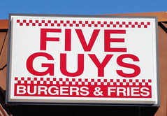 Five Guys Famous Burgers and Fries - Restaurant - 1527 Chestnut St, Philadelphia, PA, United States
