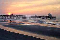 Folly Beach Fishing Pier - Attractions/Entertainment - 101 East Arctic Avenue, Folly Beach, SC, United States