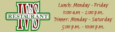 Iv's - Restaurants - 150 S Industrial Rd, Tupelo, MS, 38801