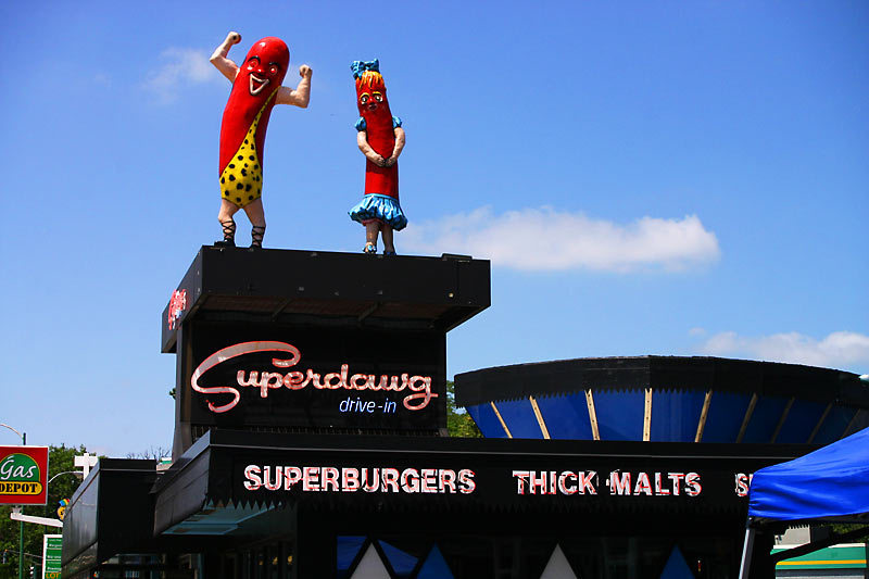Superdawg Drive-in - Restaurants, Attractions/Entertainment - 6363 N Milwaukee Ave, Chicago, Illinois, United States