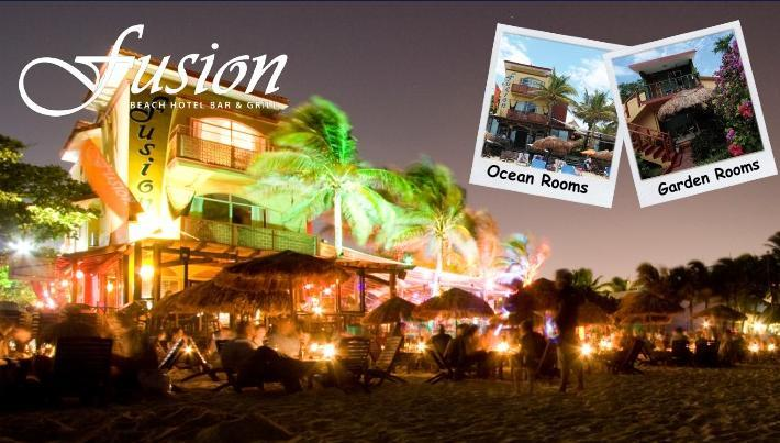 Fusion Beach Hotel, Bar & Grille - Attractions/Entertainment, Hotels/Accommodations - Calle 6, Beach