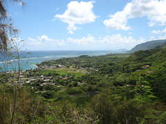 Hauula Loop Trail 2.5 mi - Attraction - Take H1 west bound. Get off at the Likilike exit and go through the mountains. Take Kahekili Highway west toward Laie. A few miles past Kahana Bay, turn left onto Hauula Homestead Road. Turn right onto Maakua Homestead Road which will lead you the the tra