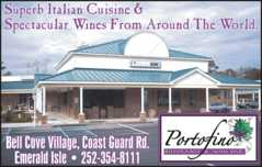 Portofino Ristorante & Wine Br - Restaurant - 9106 Coast Guard Road, Emerald Isle, NC, United States