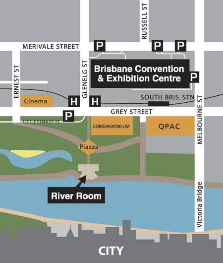 Brisbane South Bank River Room - Reception Sites - South Bank, QLD, Australia