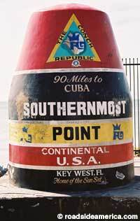 Southernmost Point - Attractions/Entertainment - South St, Key West, FL, United States
