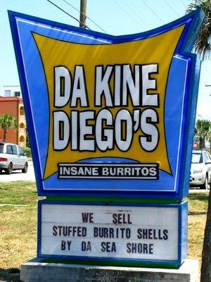 Da Kine Diego's Insane Burrito - Restaurants - 1360 Florida A1A, Satellite Beach, FL, United States