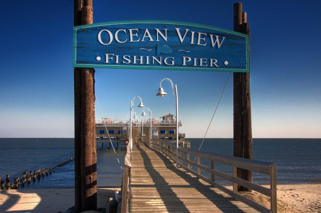 Ceremony ocean view fishing pier wedding venues for Fishing in norfolk va