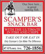 Scamper's Fish & Chips - Restaurants - 47 O'Leary Avenue, St. John's, NL, Canada