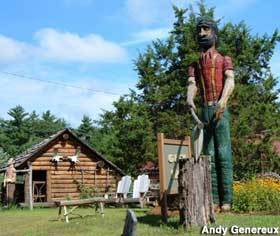 Carved Wooden Paul Bunyan - Attractions/Entertainment - Pulaski Blvd, Bellingham, MA, 02019