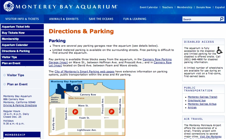 Monterey Bay Aquarium - Attractions/Entertainment - 886 Cannery Row, Monterey, CA, United States