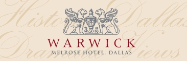Warwick Melrose Hotel - Brunch/Lunch, Hotels/Accommodations, Rehearsal Lunch/Dinner, Ceremony Sites - 3015 Oak Lawn Ave, Dallas, TX, 75219