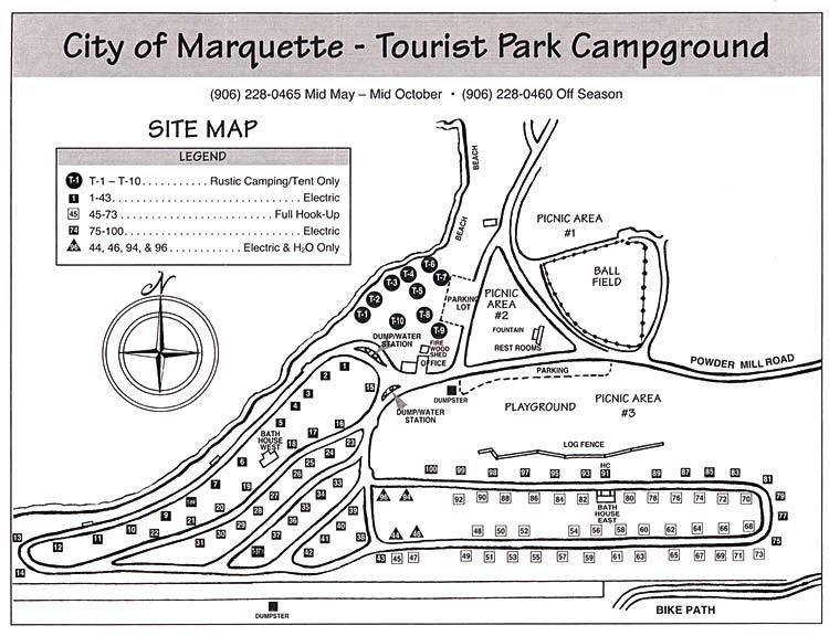 Marquette Tourist Park - Hotels/Accommodations, Parks/Recreation - 2145 Sugar Loaf Ave, Marquette, MI, United States