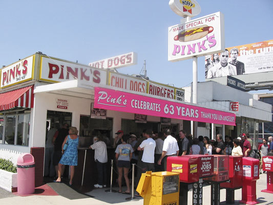 Pinks Hot Dogs - Restaurants, Attractions/Entertainment - 709 N La Brea Ave, Los Angeles, CA, United States