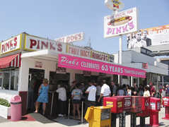 Pinks Hot Dogs - Rise and Dine - 709 N La Brea Ave, Los Angeles, CA, United States