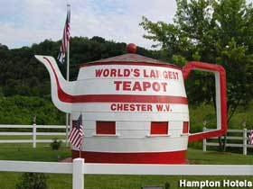 The Worls'd Largest Teapot - Attractions/Entertainment - Carolina Ave/Rt 2, Chester, WV, 26034, US