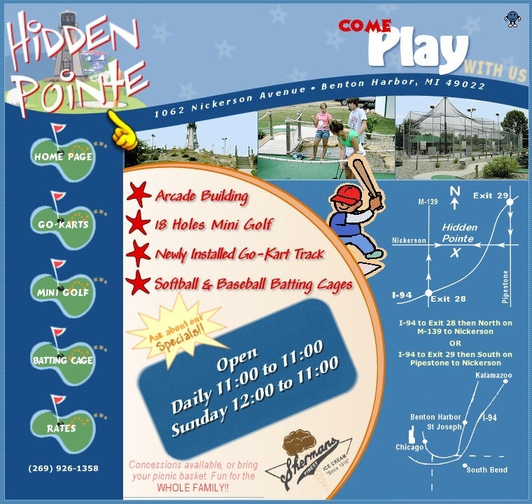 Hidden Pointe Fun Park - Golf Courses - 1062 Nickerson Ave, Benton Harbor, MI, 49022, US