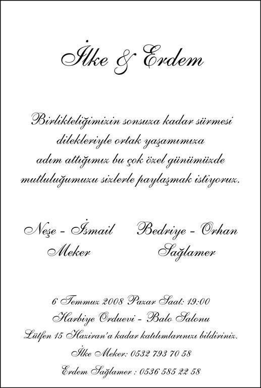 Ilke&erdem Evleniyor :) - Ceremony Sites - TR