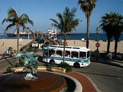 State Street - Trolley - State St, Santa Barbara, California, US