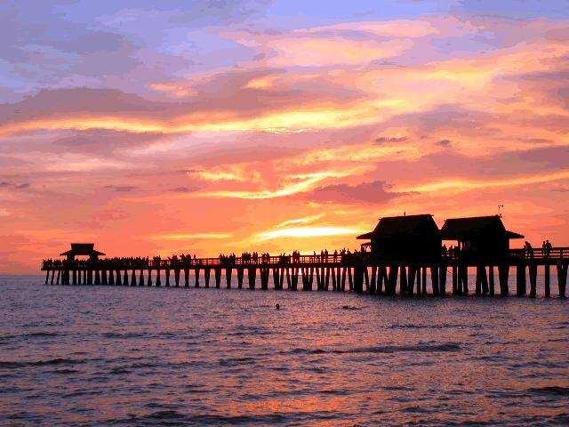 104095 on Naples Florida Pier Sunset