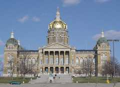 Iowa State Capitol Building - Points of Interest - 600 E. Locust St, Des Moines, IA, United States