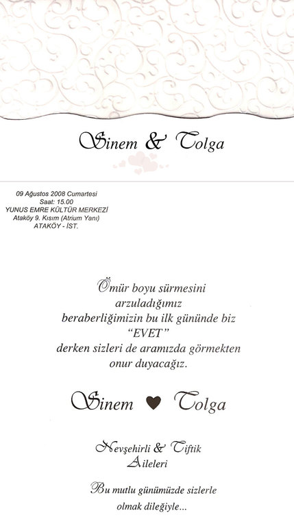 Sinem & Tolga Evleniyorrrr - Ceremony Sites -