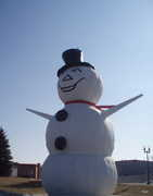 North St Paul Snowman - Attraction - Margaret St N & Centennial Dr, North St Paul, MN, 55109