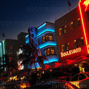 Ocean Drive - Attractions/Entertainment, Beaches - Ocean Dr, Miami Beach, Florida, US