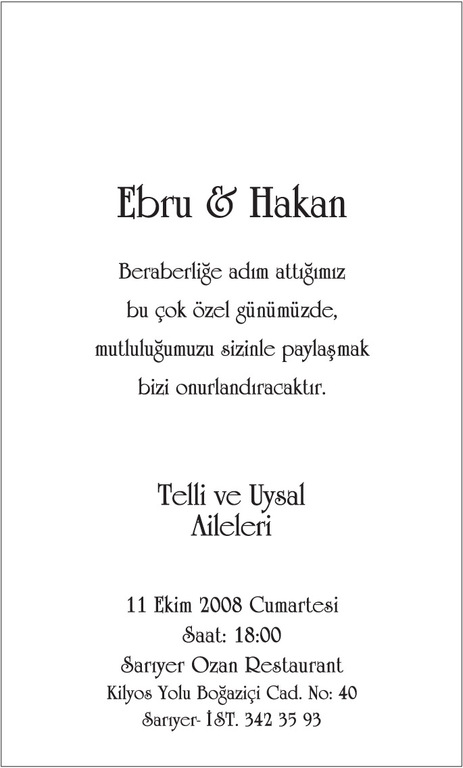 Hakan Uysal-ebru Tellİ - Ceremony Sites -
