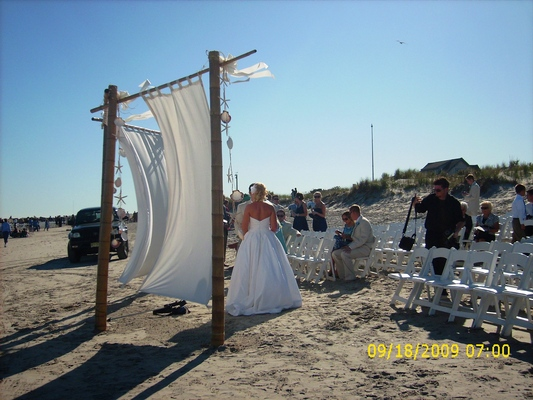 gazebo wedding arch beach