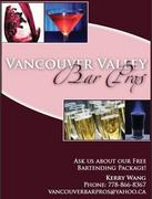 Vancouver Valley Professional Bartending - Bartenders & Beverages, Coordinators/Planners, Caterers, Rentals - 892 Carnarvon St, New Westminster, BC