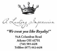 A Lasting Impression - Coordinators/Planners, Tuxedos, Invitations - 94 Columbus Rd, Athens, Ohio, 45701, USA