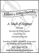 RIBBONS & STRINGS ENSEMBLES: Quartet, Trio, Duos