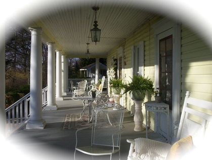 Your guests will be greeted on our wrap around porch - Ceremonies - Yellow Turtle Inn - Intimate Weddings