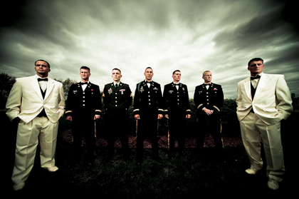 Military Wedding, I thought this look was fitting, I LOVE clouds. - Wedding Party Attire - Green Ray Studio