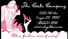 The Cake Company - Cakes/Candies - 1502 5th Ave, Canyon, Texas, 79015, USA