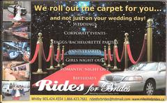 ridesforbrides.ca - Limos/Shuttles - 44 gabrielle crescent, 945 tauton road, whitby, ontario, l1r3m5, canada