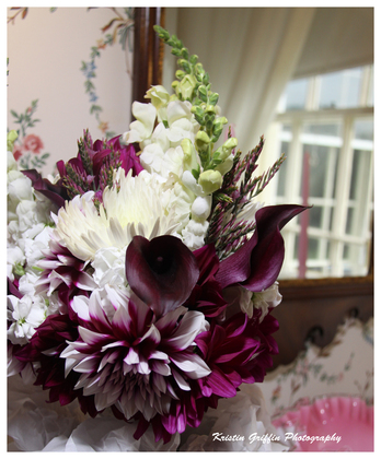 Bridal Bouquet - Lyman Estate - Dahlias, Calla Lilies, Snapdragons - Flowers and Decor - Land Escapes Design Inc.