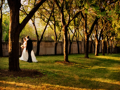 Chicago wedding, outdoor wedding, fall, location portraits - Newlyweds - Wedding Creativo Photo & Event Loft