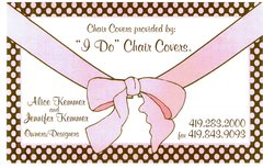 I DO CHAIR COVERS - Rentals, Decorations - 3809 Hampstead Dr., Sylvania, Ohio, 43560, United States